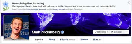 Facebook: da profilo a memoriale funebre